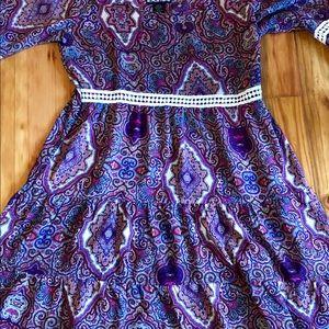 Boho flowing mini dress